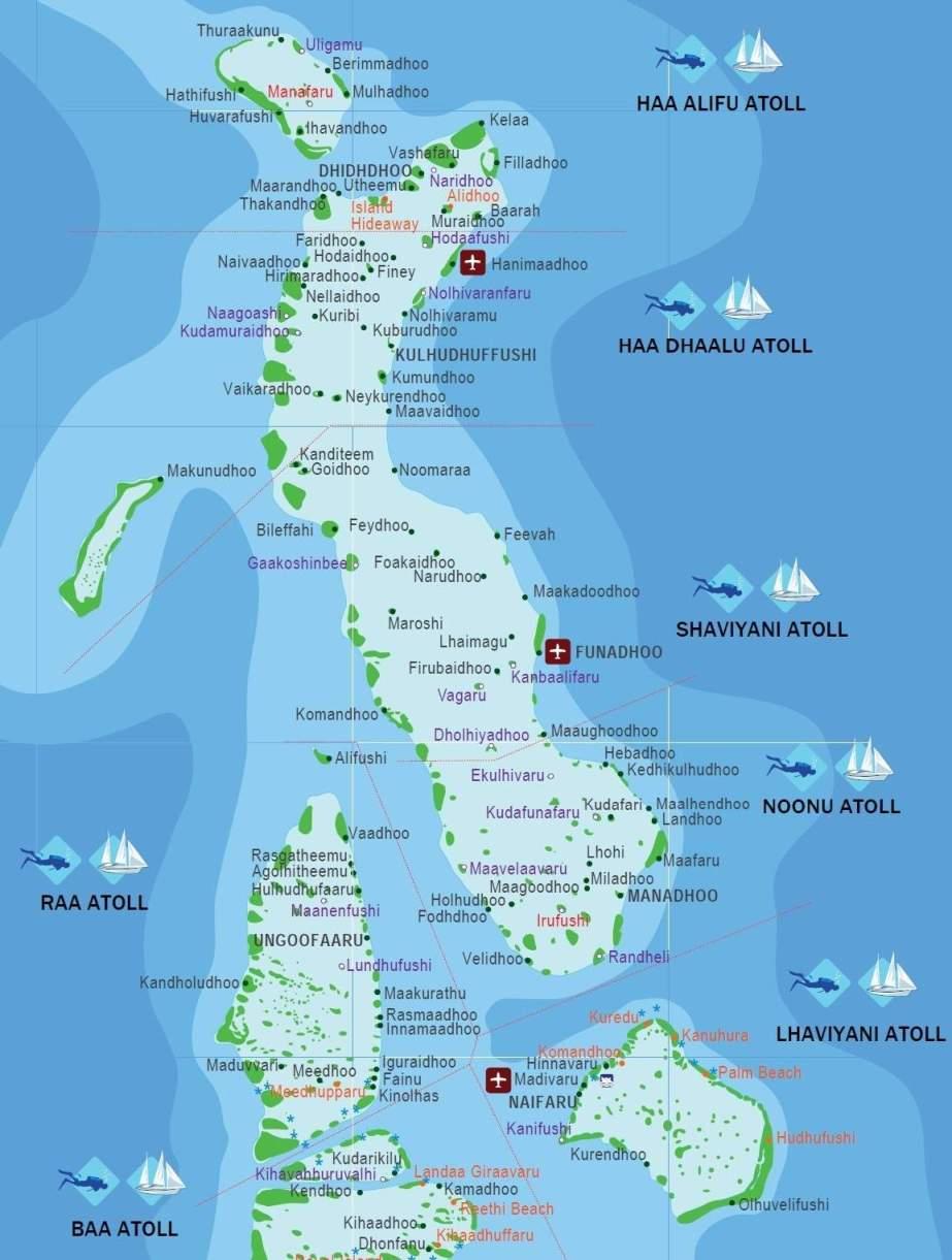 Kartta Malediivit