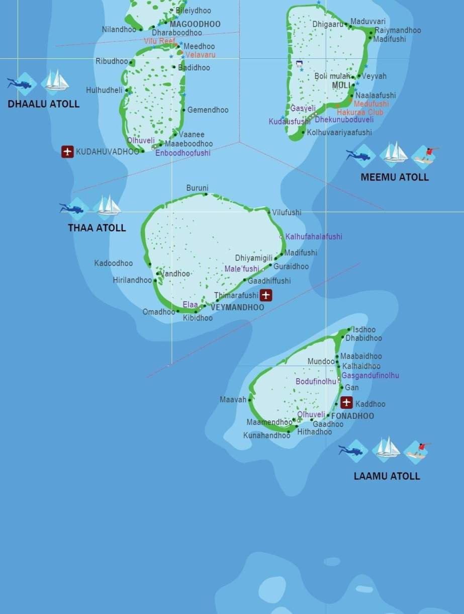 Map of the Maldives